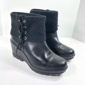 Timberland Kellis Fold Down Ankle Boots Wedges 10